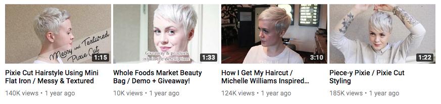 Styling Very Short Hair Sarah H On Youtube Happy Magazine