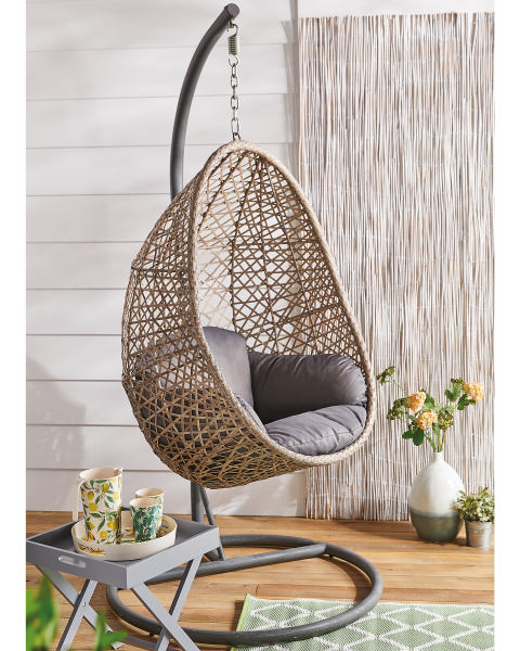 A little garden luxury for a bargain price: Aldi's Hanging Egg Chair