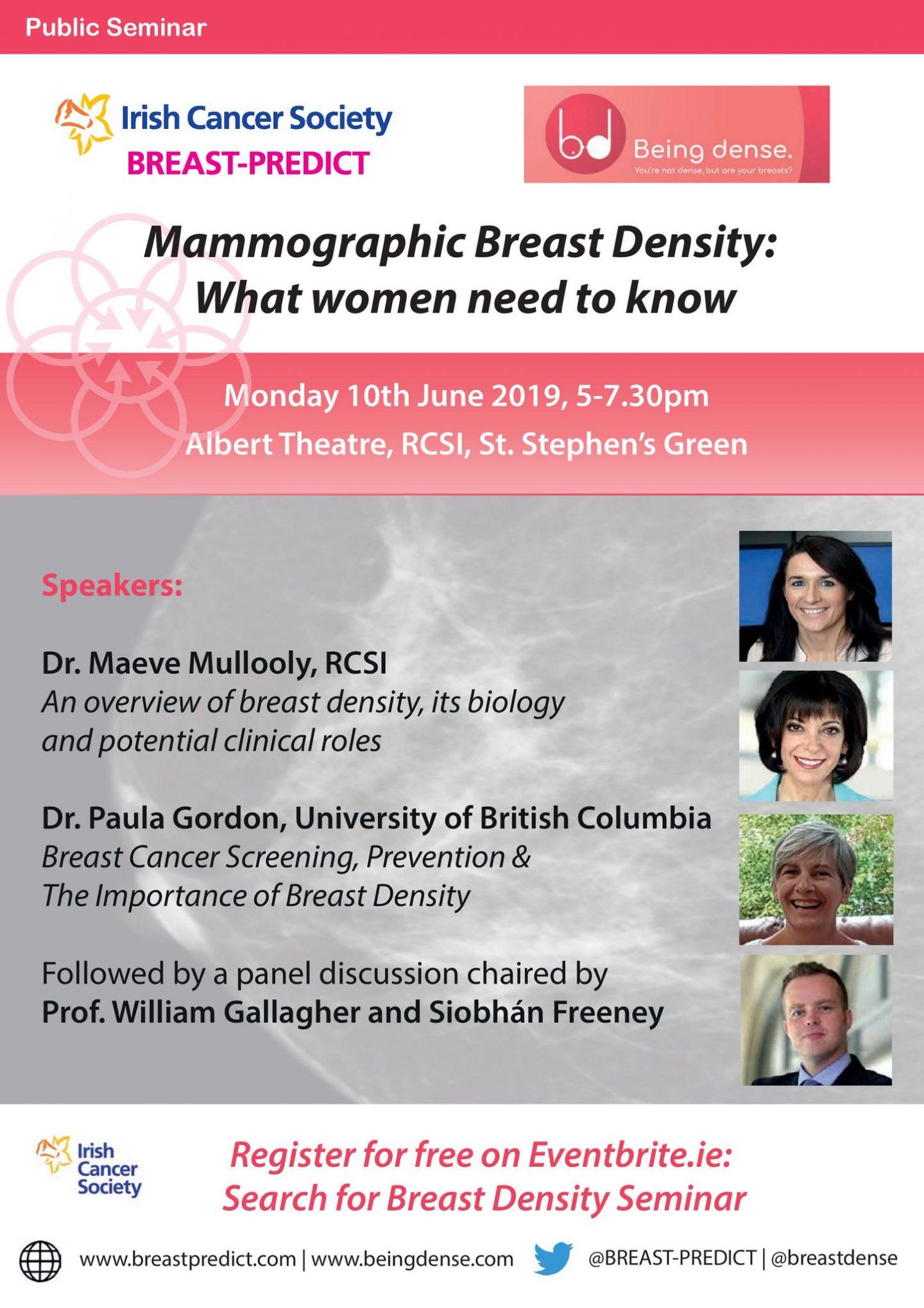 Public talk on mammographic breast density