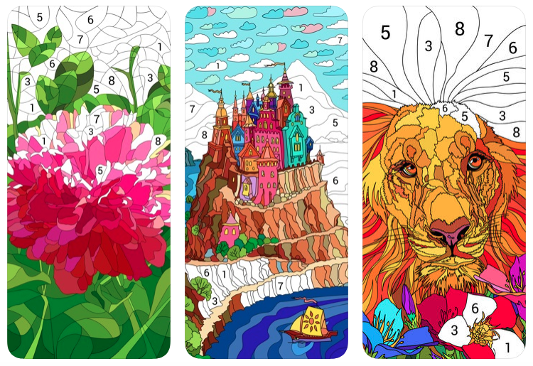 Happy Color – A 'paint by numbers' app for your phone/tablet